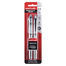 Vision Elite Roller Ball Pens 0.8 mm, Black Ink