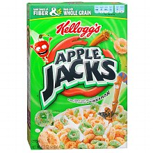 Apple Jacks Crunchy Sweetened Three-Grain Cereal