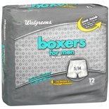 Walgreens Certainty Men's Boxers Maximum Absorbency S/M