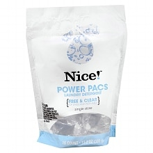 Nice! Power Pacs Laundry Detergent Capsules Unscented