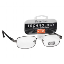 Technology Metal Premium Reading Glasses Manning +1.50, Black