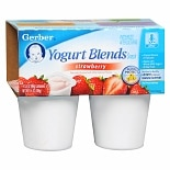 Gerber Yogurt Blends Yogurt Snack 4 Pack Strawberry