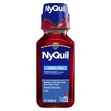 Vicks NyQuil Cold & Flu Nighttime Relief Liquid Cherry