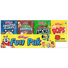 Kellogg's Fun Pak Cereals 8 Pack Assorted