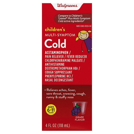 Walgreens Children's Plus Multi Symptom Cold Oral Suspension Grape