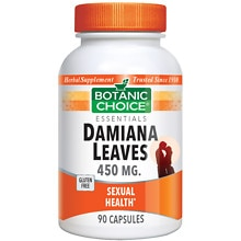 Botanic Choice Damiana Leaves 450 mg Herbal Supplement Capsules