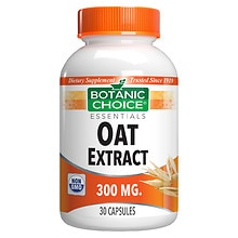 Oat Extract 300 mg Herbal Supplement Capsules