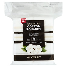 Beauty Exfoliating Cotton Squares, White
