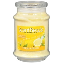 Wax Bead Jar Candle 13.5 oz Lemon, Fresh Lemon