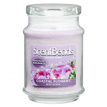 ScentBeads Wax Bead Jar Candle 7 oz Floral Coastal Flowers