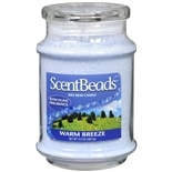 ScentBeads Wax Bead Jar Candle Warm Breeze