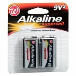 Walgreens Alkaline Supercell Batteries 2 Pack 9 V