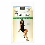 L'eggs Brown Sugar Control Top Sandalfoot Ultra Ultra Sheer Pantyhose Q Coffee