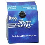 L'eggs Sheer Energy Control Top Sheer Toe Revitalizing Sheer Pantyhose Q Plus Jet Black
