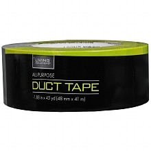 Living Solutions All-Purpose Duct Tape 1.88 inch x 45 yards Silver