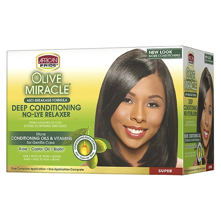 ... Pride Olive Miracle Conditioning Anti Breakage Hair Relaxer Kit