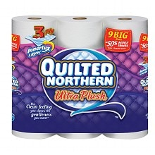 Ultra Plush Bathroom Tissue Unscented 9 Rolls, White