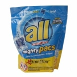 All 4X Concentrated Laundry Detergent Mighty Pacs Original