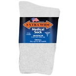 Extra Wide Medical Socks Womens Shoe Sizes 6-11 Wide White