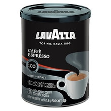 Lavazza Caffe Espresso, 100% Premium Arabica Ground Coffee, Cafe Moulu Regular Regular