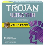 Trojan Ultra Thin Premium Lubricant Latex Condoms
