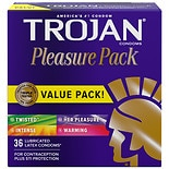 Lubricated Latex Condoms, Pleasure Pack