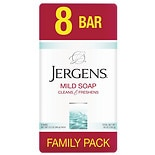 Jergens Mild Soap Bars 8 Pack White