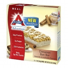 Atkins Advantage Meal Bars Cinnamon Bun