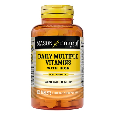 Mason Natural Daily Multiple Vitamins with Iron, Tablets