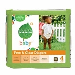 Seventh Generation Free & Clear Baby Diapers Stage 4 (22-37 lbs), 27 ea