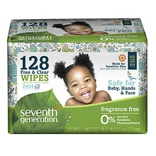 Seventh Generation Thick n' Strong Baby Wipes Refill Free & Clear