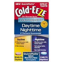 Cold-Eeze Daytime / Nighttime QuickMelt Mixed Berry