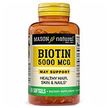 Mason Natural Super Biotin 5000 mcg, Softgels