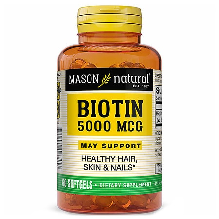 Mason Natural Super Biotin 5000 mcg Softgels