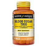 Mason Natural Diabetes Trio Alpha Lipoic Acid, Fenugreek, Chromium, Tablets