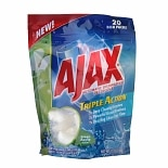Ajax Triple Action Automatic Dishwasher Detergent Green Apple