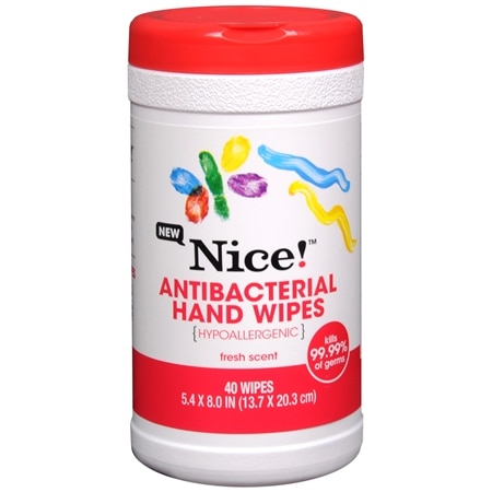 Nice! Antibacterial Hand Wipes Fresh