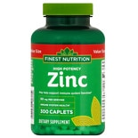 Finest Nutrition Zinc 50mg Caplets 300s