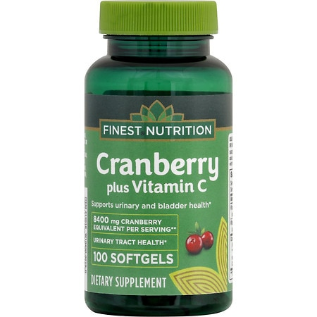 Finest Nutrition Cranberry + Vitamin C, Softgel