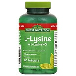 Finest Nutrition Lysine 500mg Tabs 300s