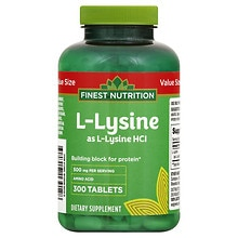 Finest Nutrition L-Lysine 500mg, Tablets