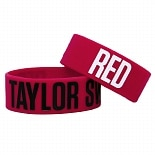 Taylor Swift Rubber Bracelet Red