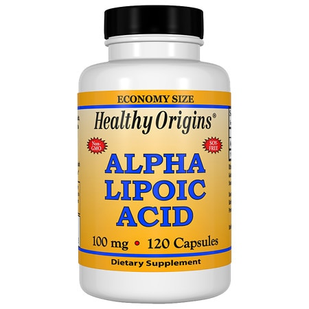 Healthy Origins Alpha Lipoic Acid 100 mg, Capsules