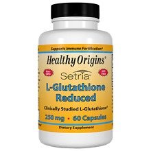 Healthy Origins L-Glutathione Reduced 250 mg, Capsules