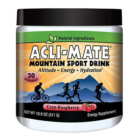 Acli-Mate Mountain Sport Drink Altitude & Energy Aid Cran-Raspberry