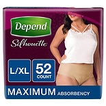 Silhouette For Women, Maximum Absorbency, L/XL - 52 Pack
