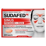 Sudafed PE Pressure + Pain Maximum Strength Caplets for Adults