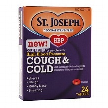 St. Joseph High Blood Pressure Cough & Cold Tablets
