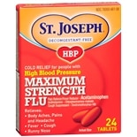 High Blood Pressure Maximum Strength Flu Tablets