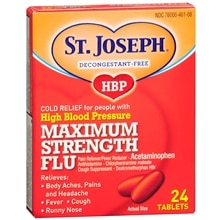 St. Joseph High Blood Pressure Maximum Strength Flu Tablets